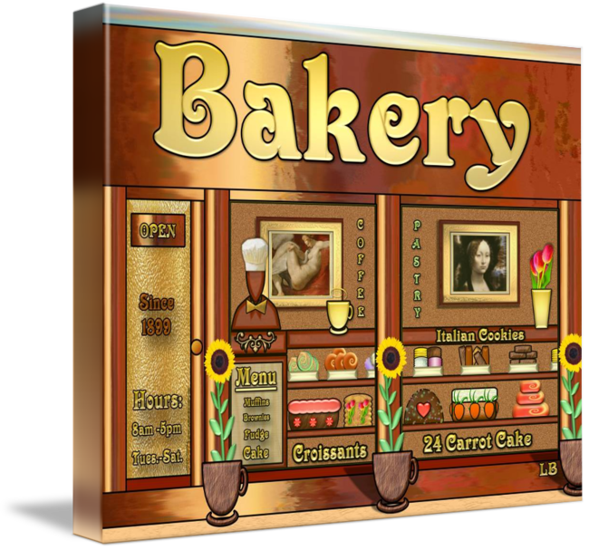 Baker drawing storefront. Bakery by laura barbosa