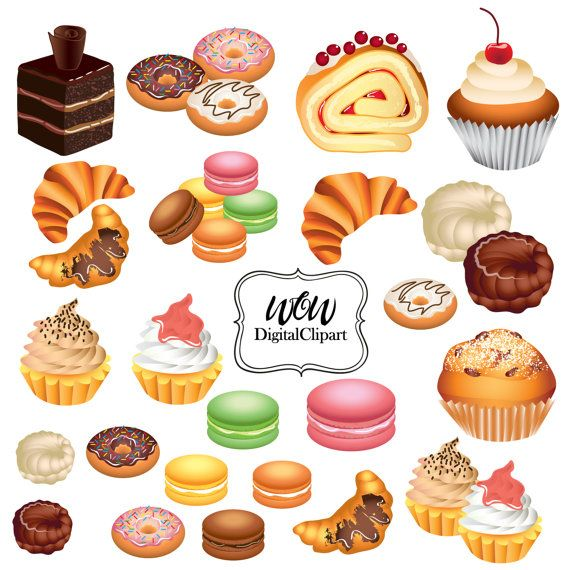 Bakery clipart. Cupcakes clip art by