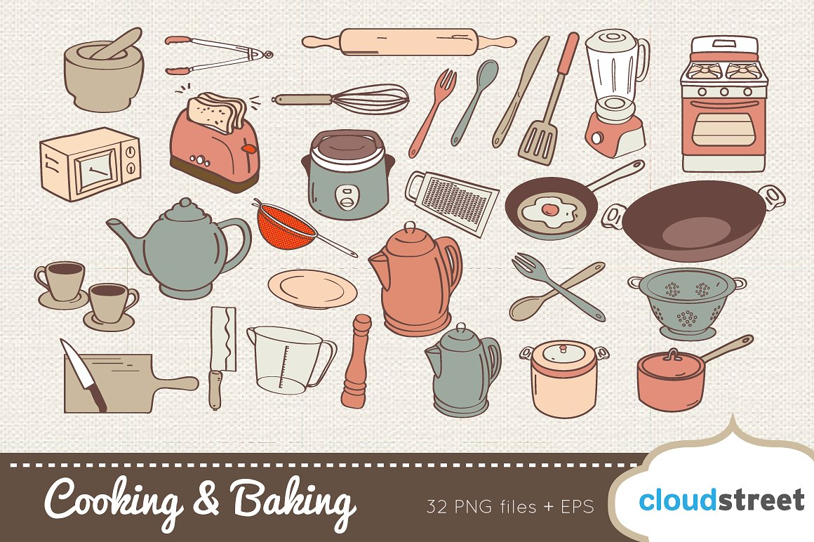 Baking clipart cooking baking. And illustrations creative market