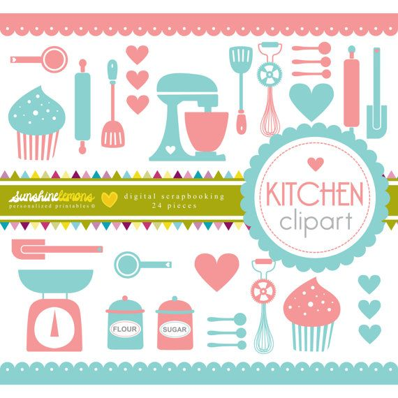Kitchen utensils set of. Baking clipart cooking baking vector royalty free stock
