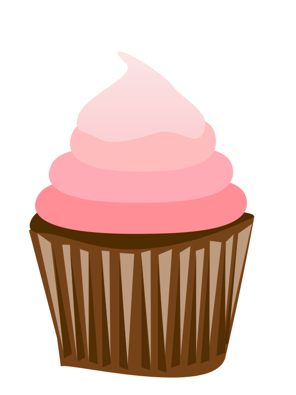 Vector cupcakes cherry top. Cupcake clipart free large