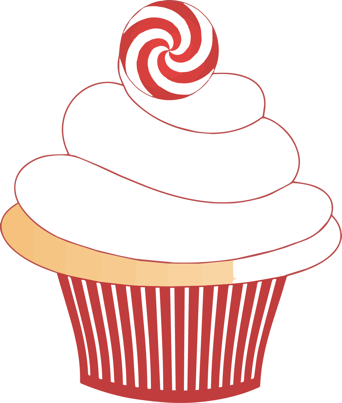 Muffins clipart group. Baking cupcake tray clip