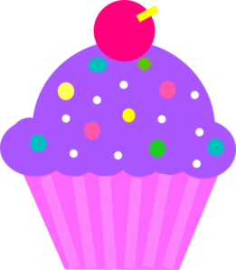 Sprinkles clipart bottle. Purple cupcake with image