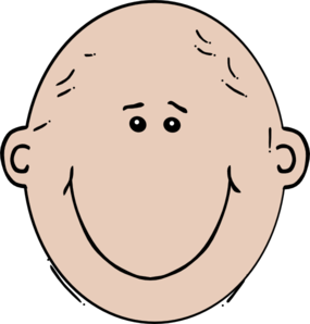 Bald clipart bald girl. Face