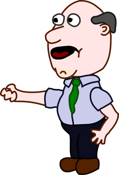 Bald clipart boy. Fat man clip art