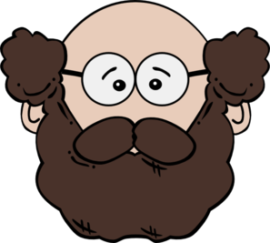 Beard clipart baby mustache. Balding man with and