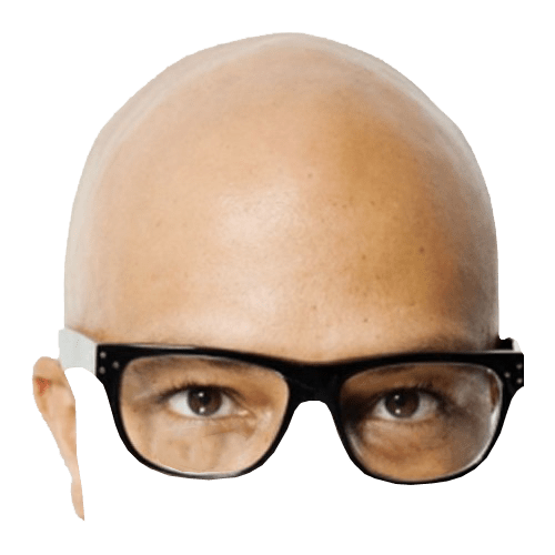 Bald head png. And glasses transparent background