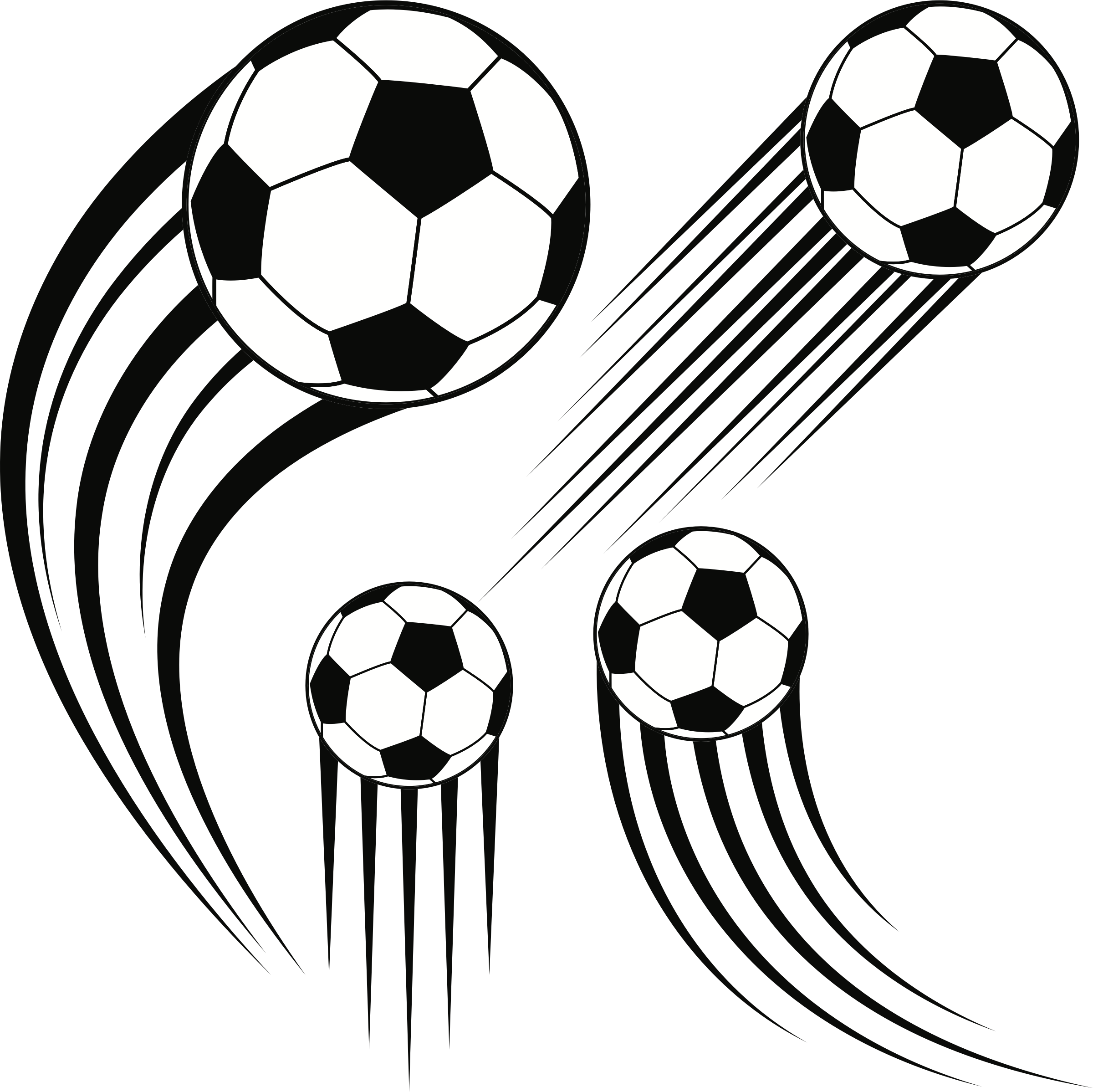 Clipart soccer balls big. Ball clip 3 banner transparent download