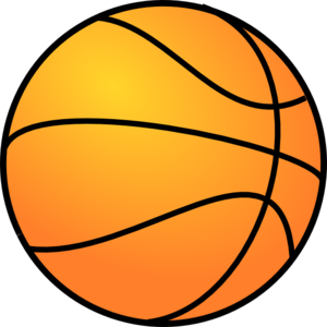 Ball clip basketball. Clipart black and white