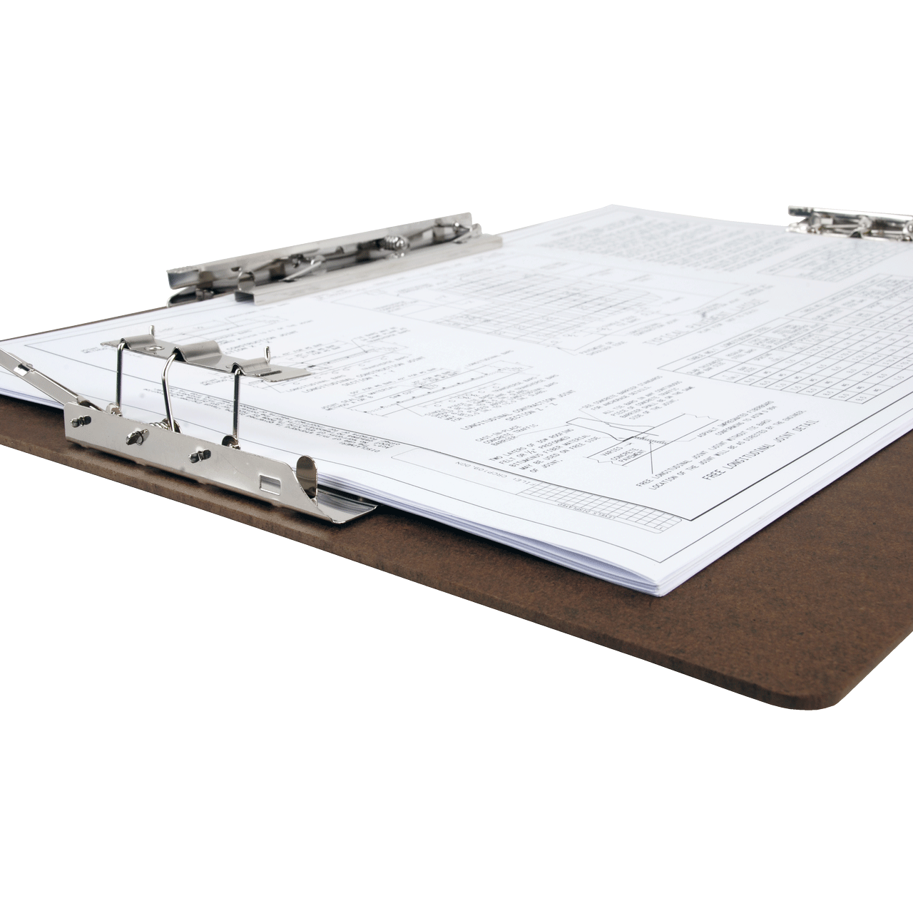 Ball clip binder. X clipboard hardboard