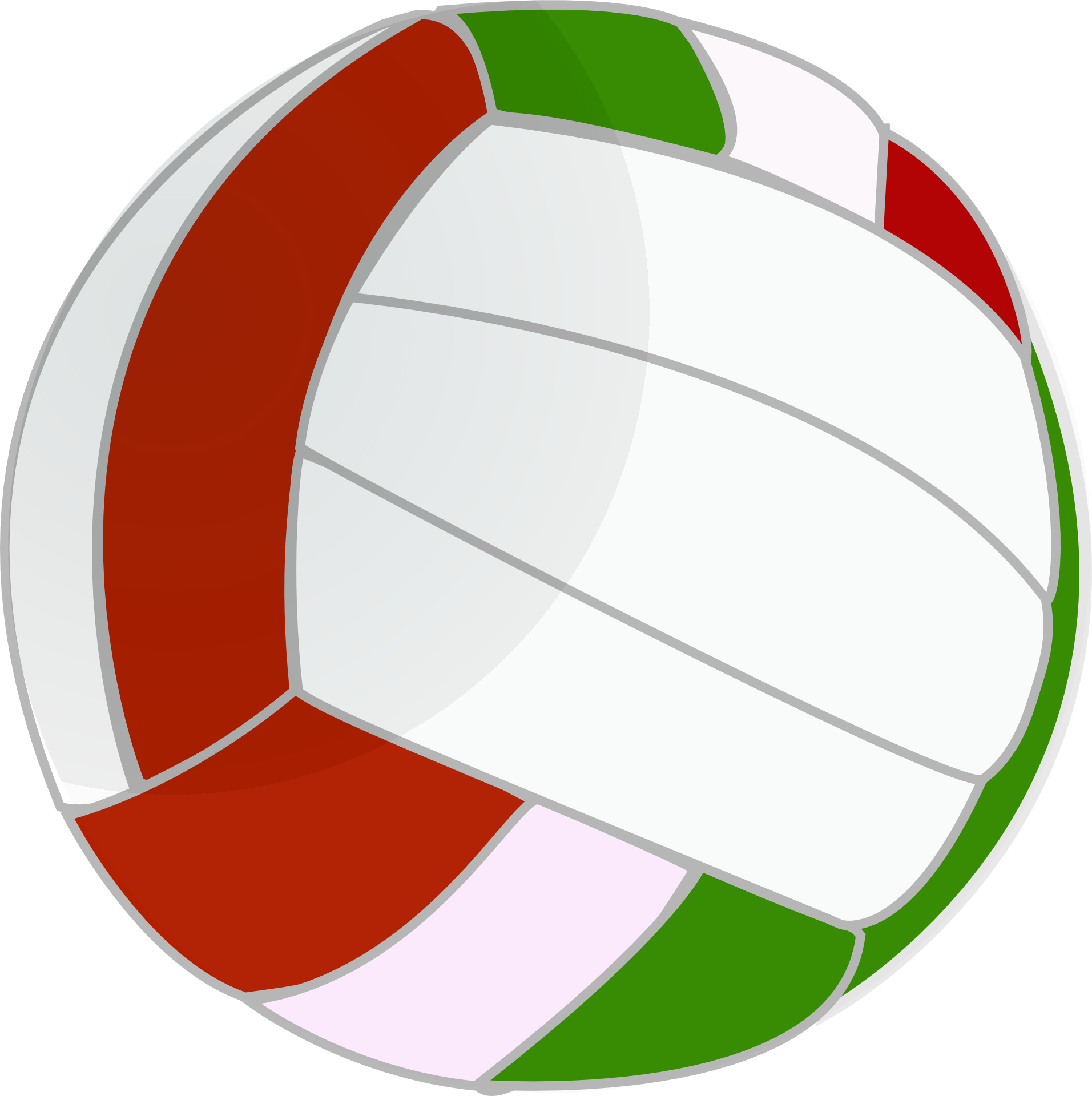 Ball clip color. Volleyball sport art the
