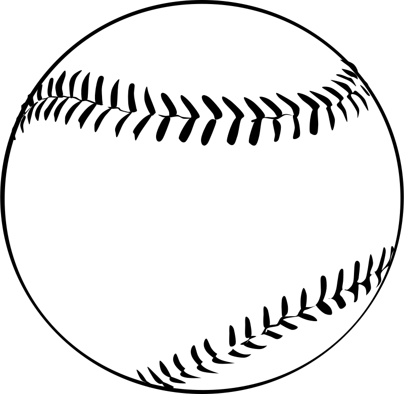 Ball clip colouring image. Baseball by gerald g