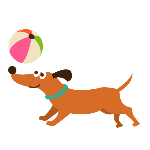 Ball clip dog. Playing with art free