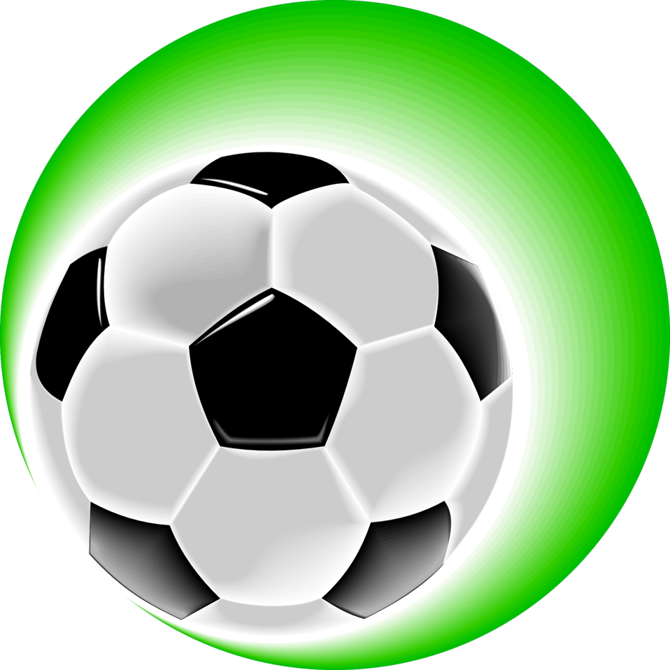soccer ball clipart green