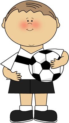 Ball clip kid holding. Boy carrying soccer kuvia