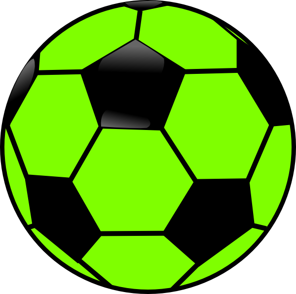 Ball clip large. Green and black soccer