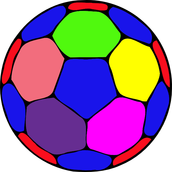 Soccer ball clipart big. Color handball a free