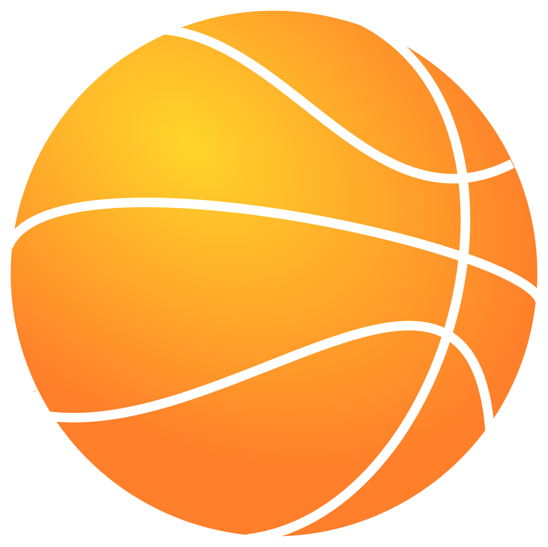 Outline of basketball art. Ball clip orange thing graphic royalty free