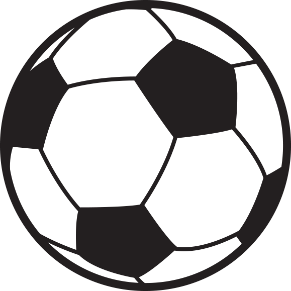 Soccer ball clipart flat. Free outline download clip