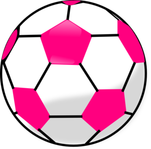 Ball clip pink. Soccer with hot hexagons