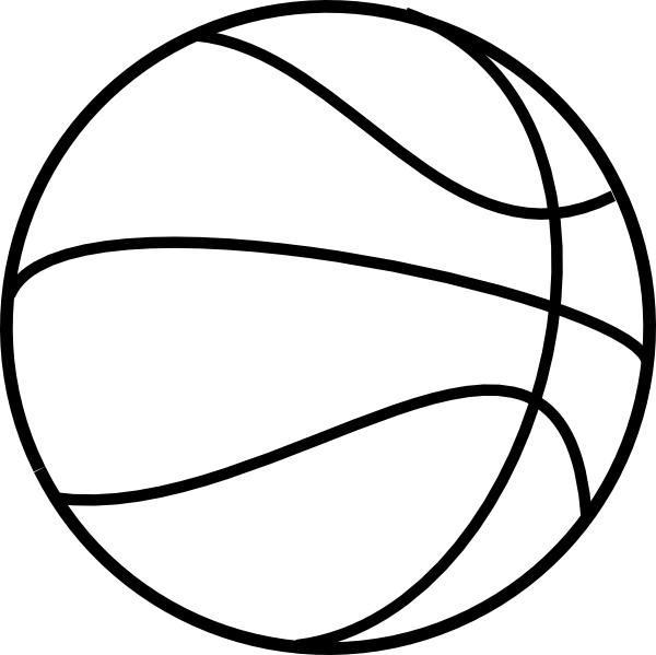 Ball clip colouring image. Free printable basketball pictures
