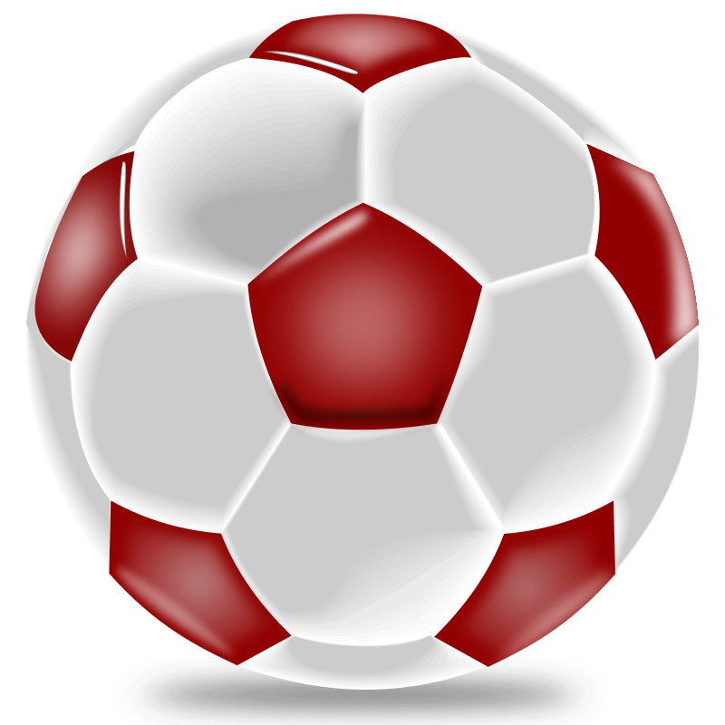 Soccer ball clipart red. Realistic medium image png