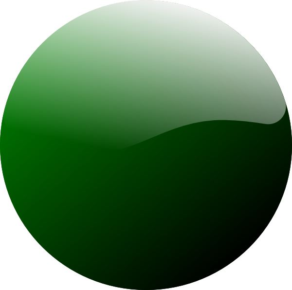 Ball clip round. Green icon art at