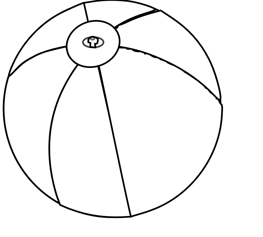 Drawing sphere black and white. Beach ball at getdrawings