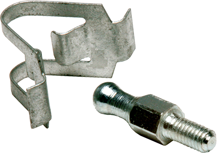 Fastener clip latch. Spring latches and ball
