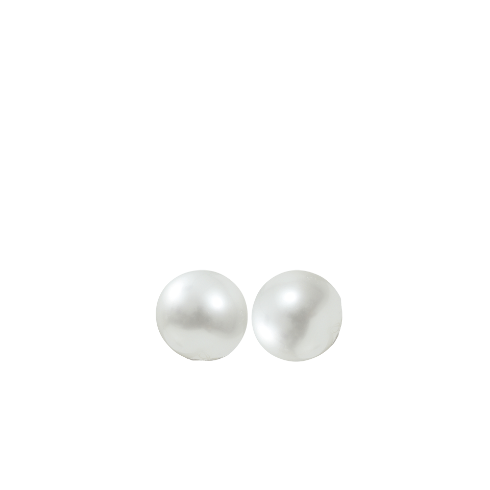 Ball clip stud. Pearl earrings marissa collections