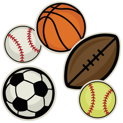Ball clipart cute. Sports collection svg cutting