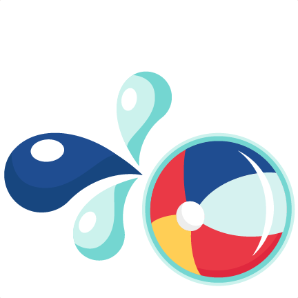 Pool party png. Large beach ball clipart