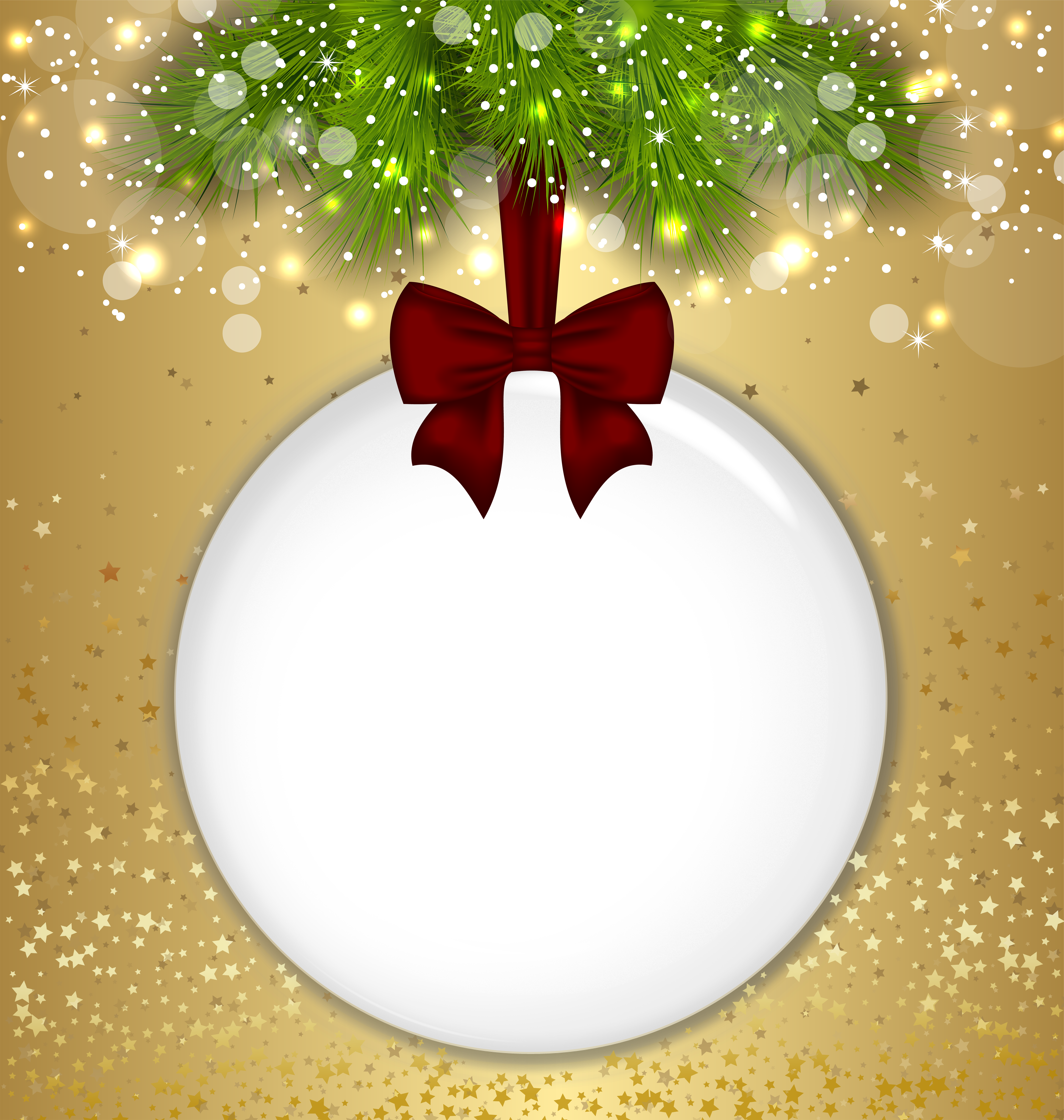 Ball clipart frame. Christmas transparent png gold