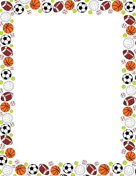 Ball clipart frame. Best page borders