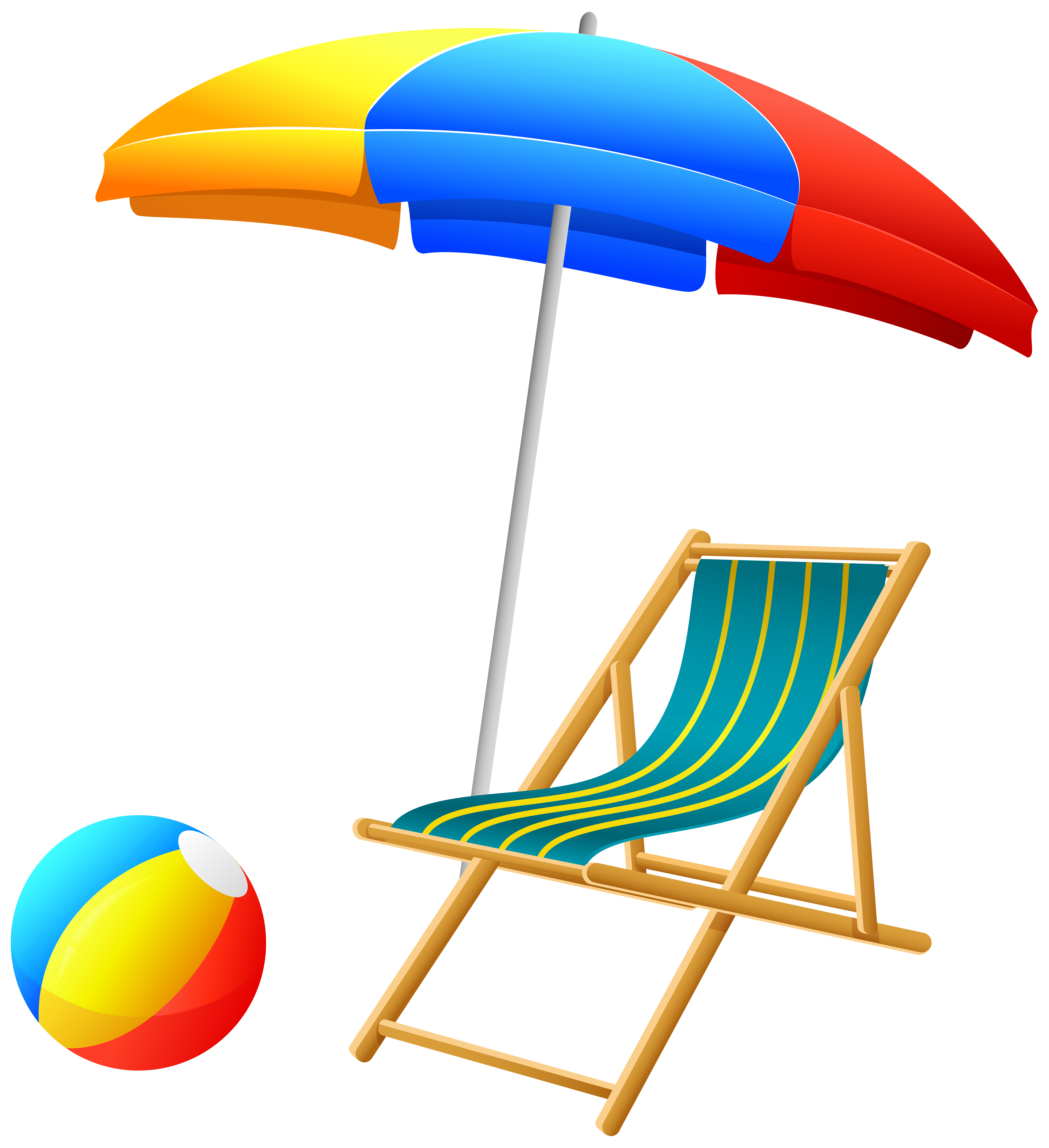Umbrella clipart unbrella. Beach with chair and