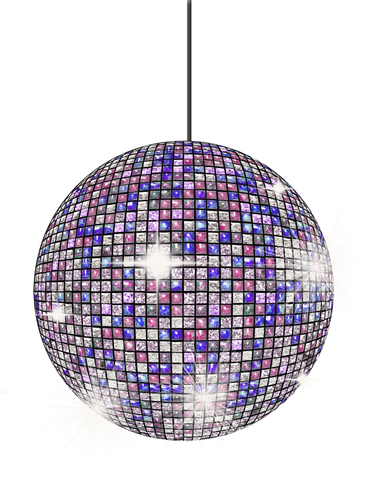 pink disco ball png