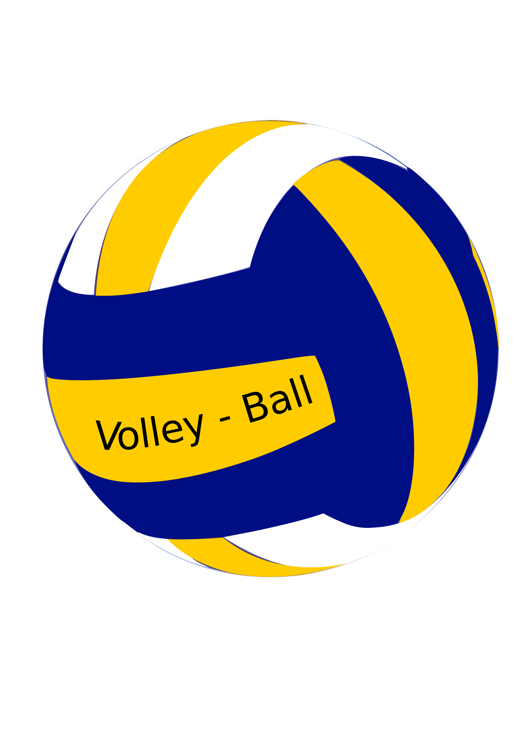 Yellow clipart volleyball. Female ball big image