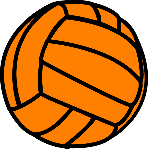 Ball clip orange. Free volleyball art download