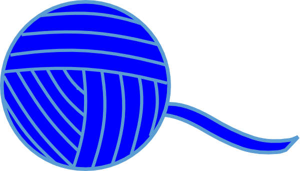 Ball of string png. Blue yarn clip art