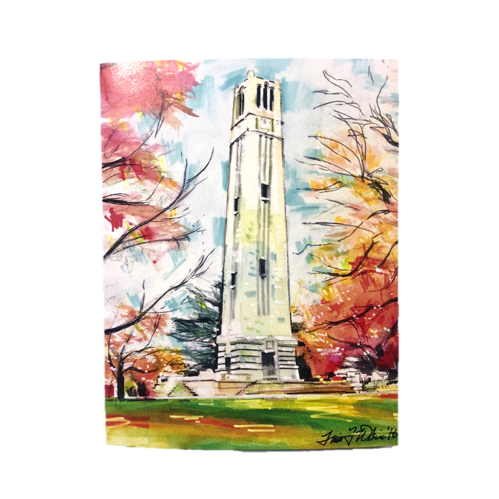 Nc wolfpack notecard set. Ball state bell tower png clip black and white