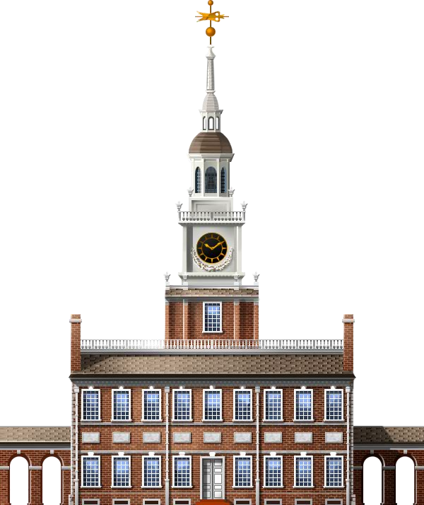 Image independence hall trainstation. Ball state bell tower png banner freeuse download