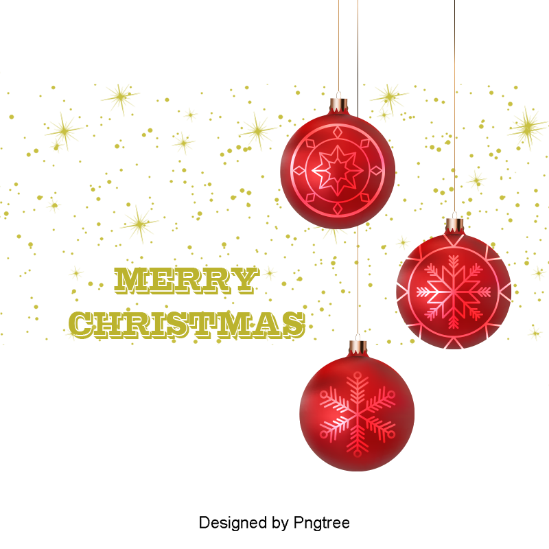 File vector merry christmas. Red ball ornaments golden