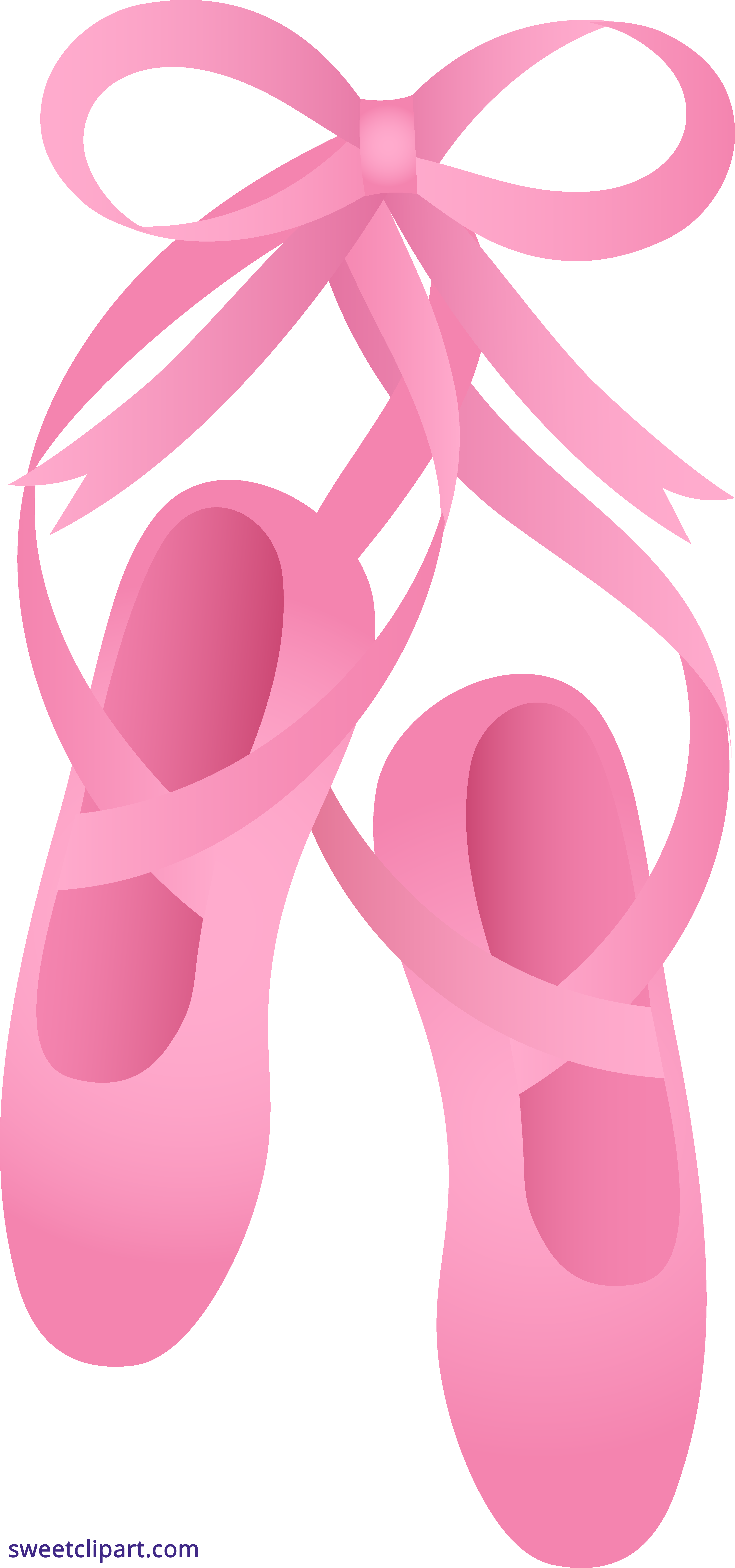 Pink ballet sweet clip. Slippers clipart clip art library