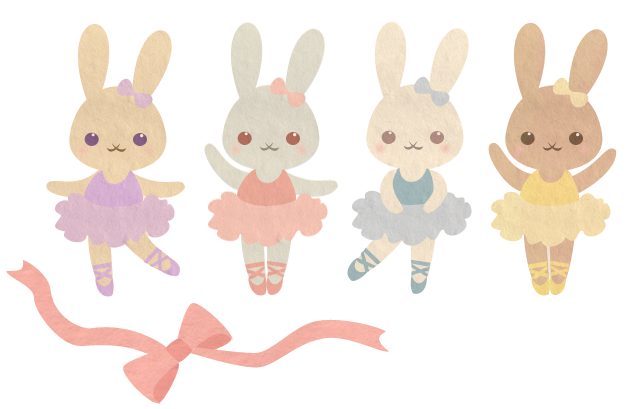 Ballerina bunnies by wolfypuppy. Ballet clipart bunny clip library
