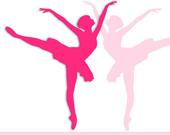 Ballet clipart pink ballerina. Pencil and in color