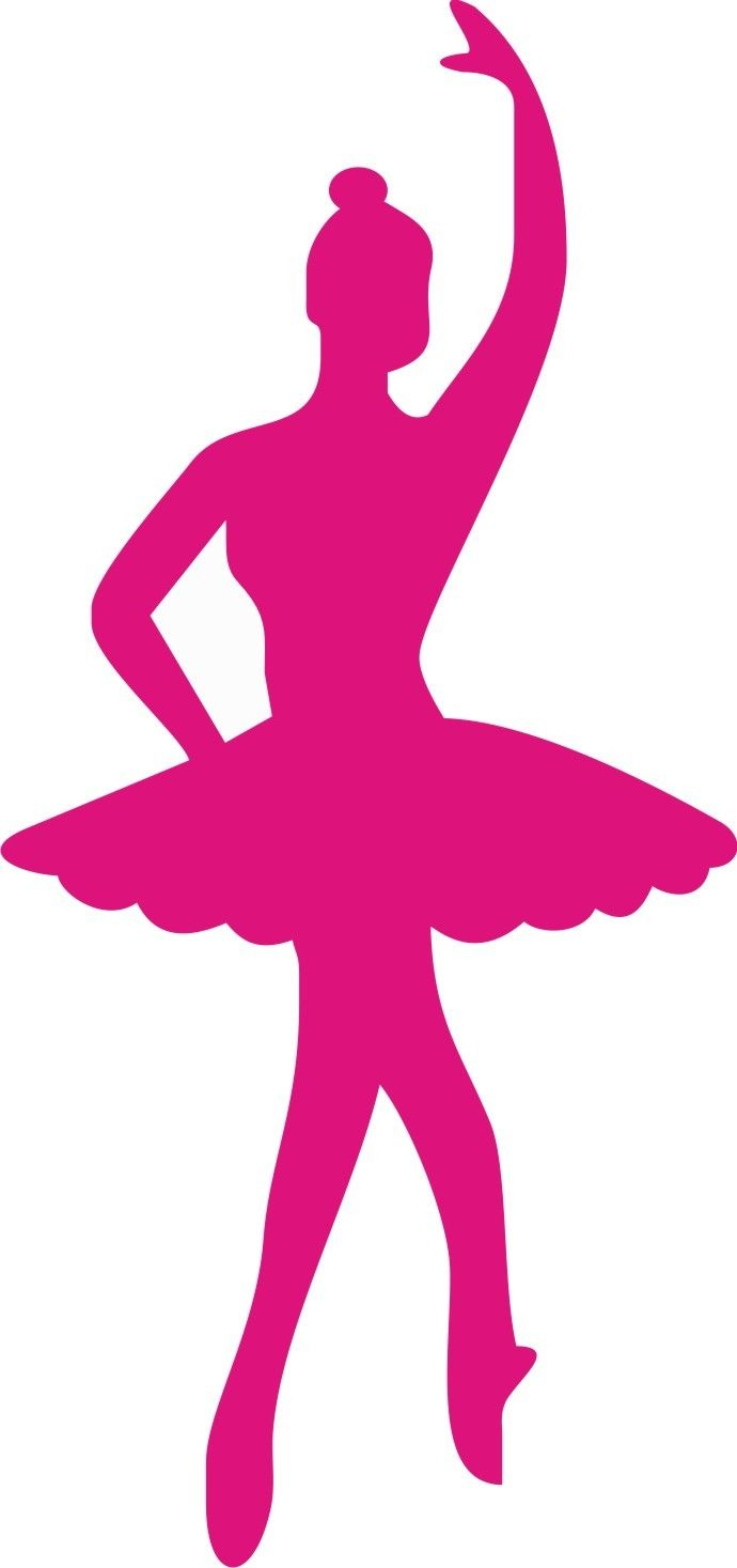 Ballet clipart pink ballerina. Silhouette at getdrawings com