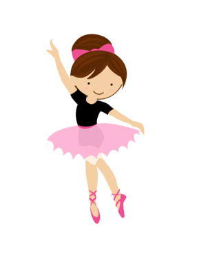 Ballet vector animated. Little dancer minus frases