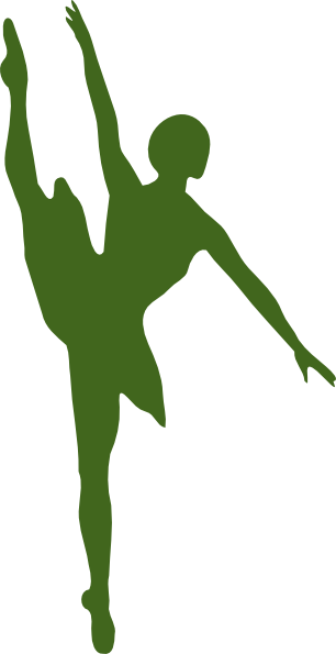 Ballet vector dress. Green clip art at