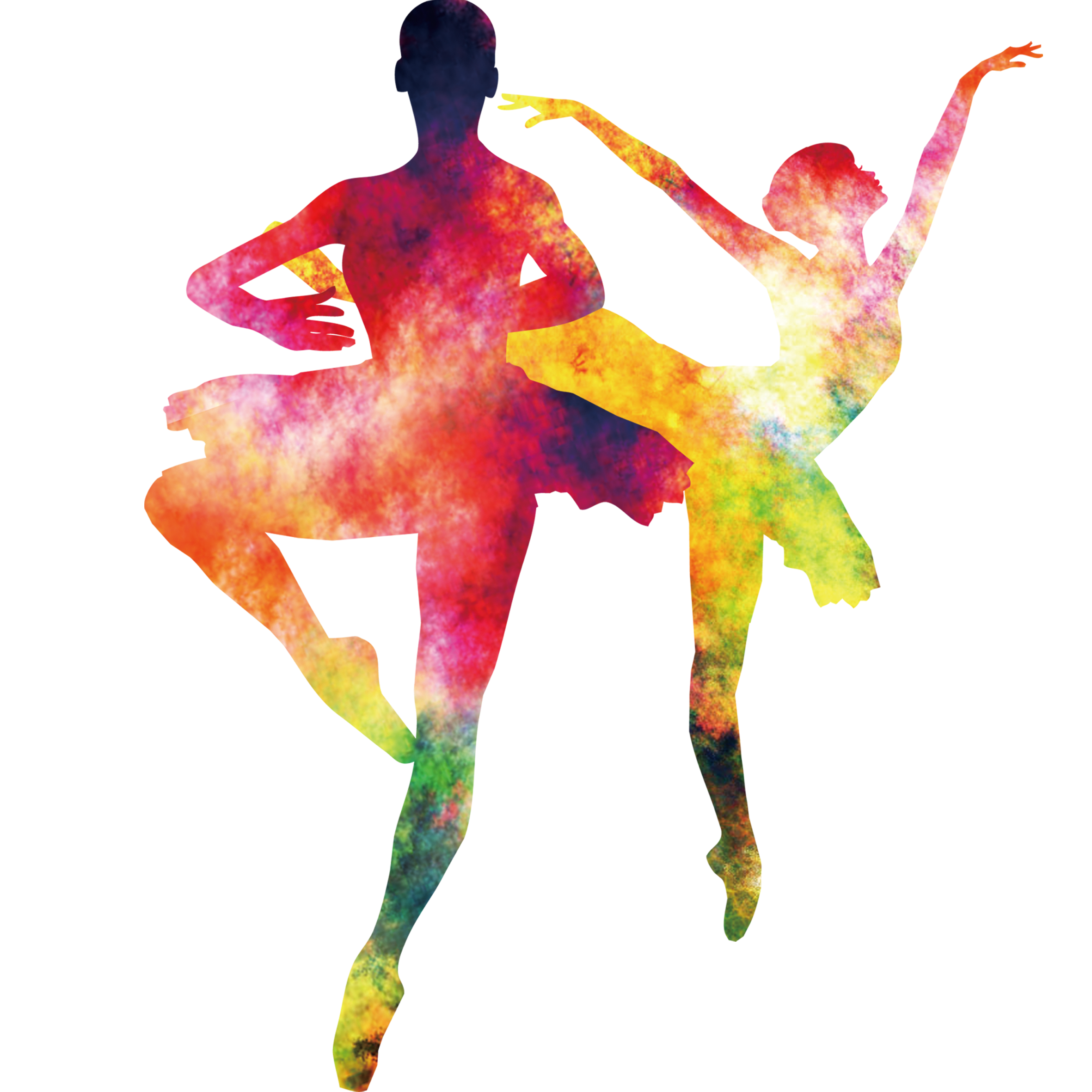 Ballet vector watercolor. Modern dance colorful cards