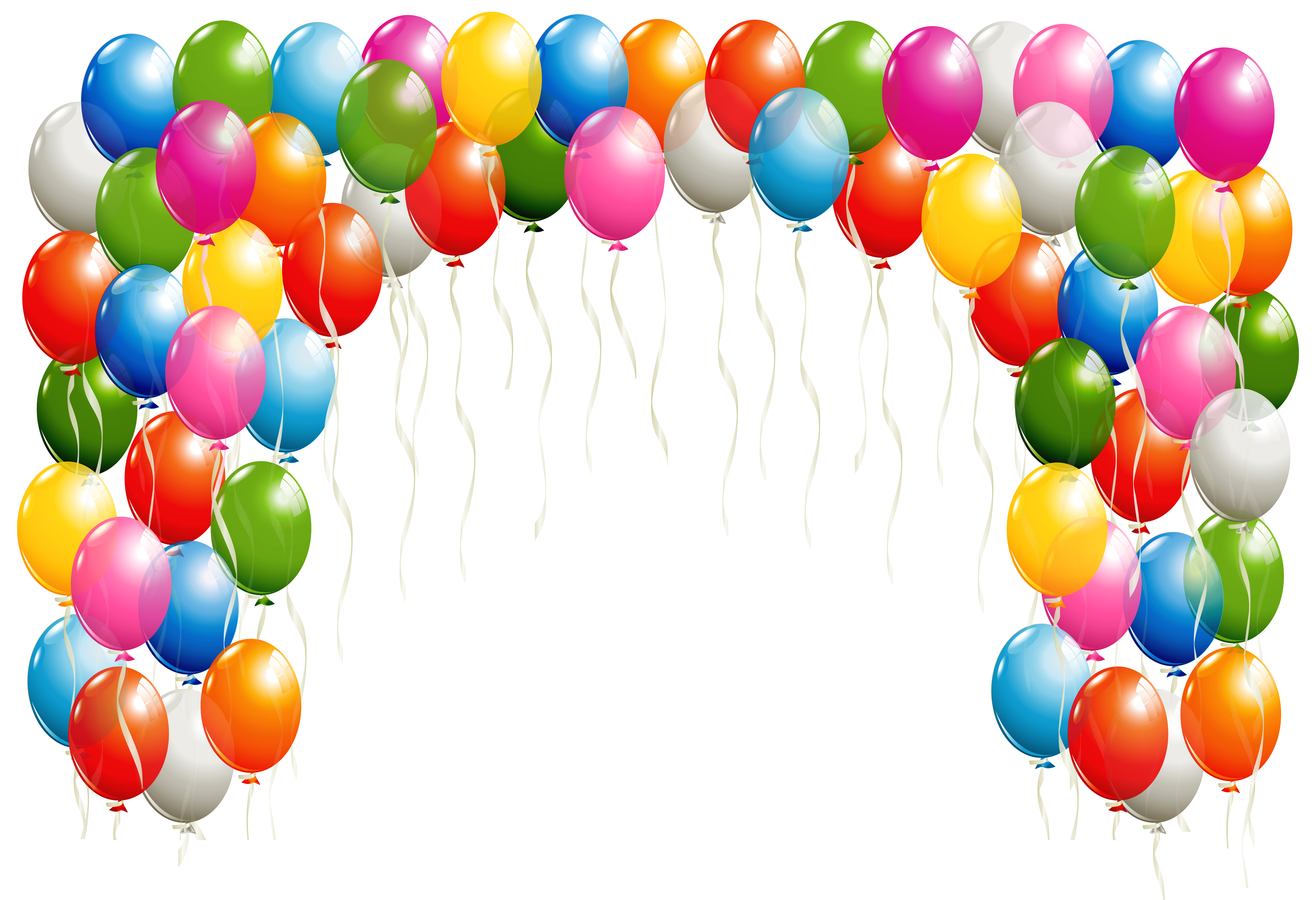 High definition balloons png. Transparent arch clipart image